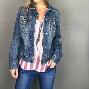 GAP Stretch Denim Jean button front Jacket size S